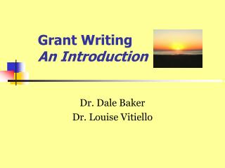Grant Writing An Introduction