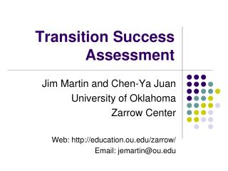 Transition Success Assessment