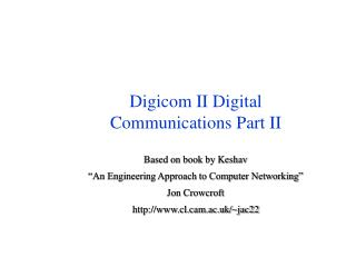 Digicom II Digital  Communications Part II