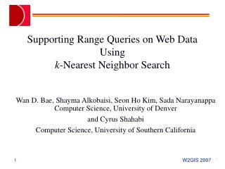 Supporting Range Queries on Web Data Using k -Nearest Neighbor Search