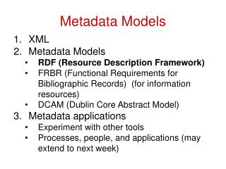 Metadata Models