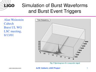 Simulation of Burst Waveforms and Burst Event Triggers