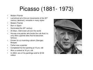 Picasso (1881- 1973)