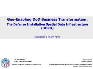 Geo-Enabling DoD Business Transformation:
