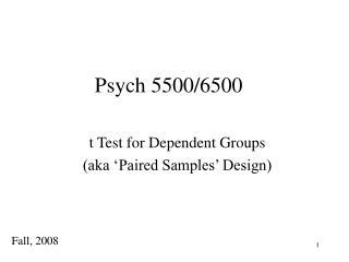 Psych 5500/6500