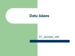 Datu bāzes
