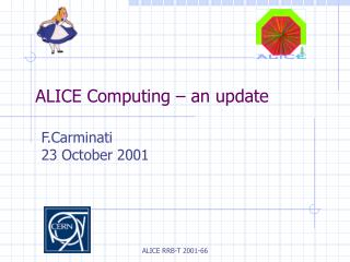 ALICE Computing – an update