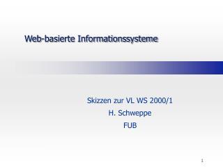 Web-basierte Informationssysteme