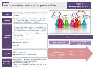 Réunion – débat : Mallette des parents 3ème