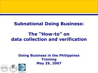 Doing Business in the Philippines:  timeline