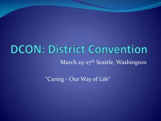 DCON : District Convention