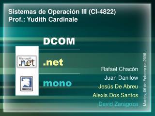 Rafael Chacón Juan Danilow Jesús De Abreu Alexis Dos Santos David Zaragoza