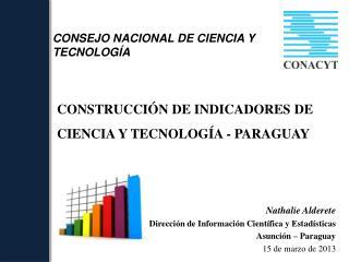 CONSTRUCCI�N DE INDICADORES DE CIENCIA Y TECNOLOG�A - PARAGUAY