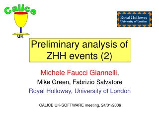 Preliminary analysis of  ZHH events (2)