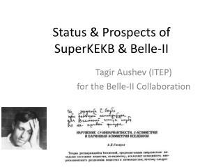 Status & Prospects of  SuperKEKB & Belle-II