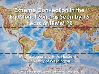 Extreme Convection in the Equatorial Zone as Seen by 16 Years of TRMM PR