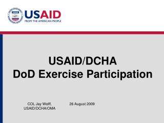 USAID/DCHA DoD Exercise Participation