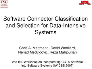 Software Connector Classification and Selection for Data-Intensive Systems