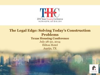 Presented to: The Texas  Affiliation of Affordable Housing  Providers