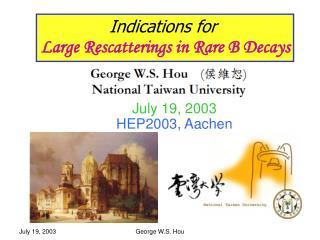 July 19, 2003  HEP2003, Aachen