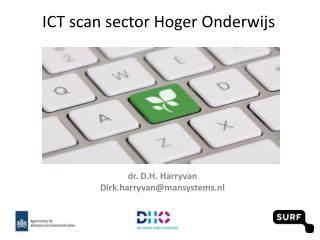 ICT scan sector Hoger Onderwijs
