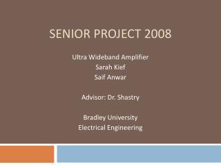 Senior Project 2008