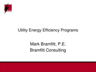 Utility Energy Efficiency Programs