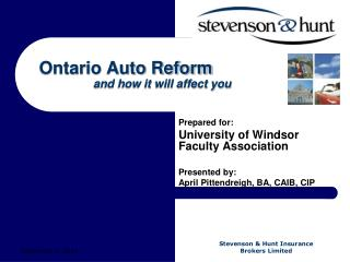 Ontario Auto Reform          and how it will affect you