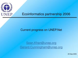 Ecoinformatics partnership 2006