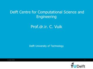 Delft Centre for Computational Science and Engineering