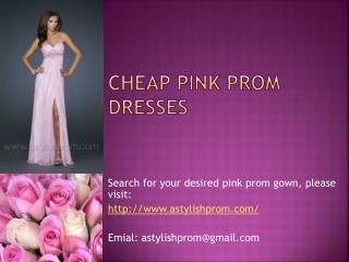 Perfect Yet Affordable Pink Prom Dresses