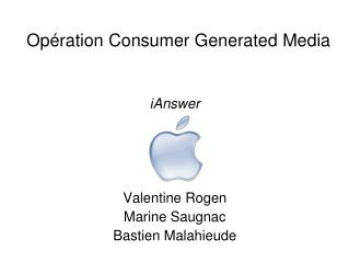 Op�ration Consumer Generated Media