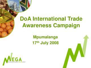 DoA International Trade Awareness Campaign