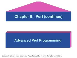 Chapter 9:  Perl (continue)