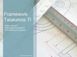 Framework Tatakelola TI