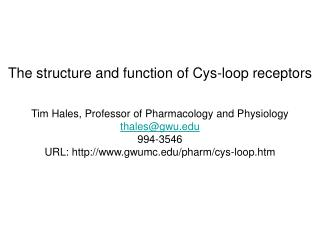 The structure and function of Cys-loop receptors