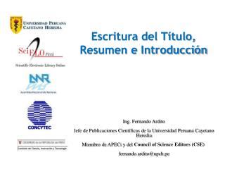 Escritura del Título, Resumen e Introducción