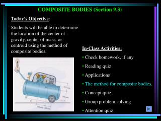 COMPOSITE BODIES (Section 9.3)