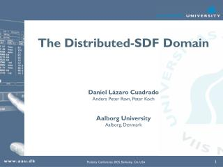 The Distributed-SDF Domain