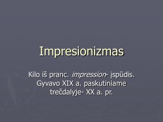Impresionizmas