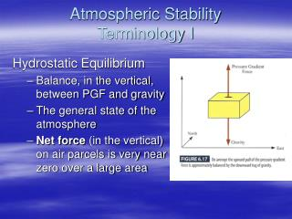Atmospheric Stability                      Terminology I