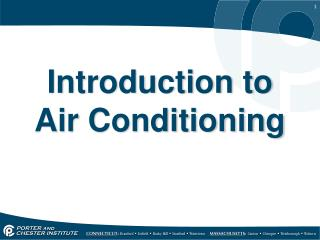Introduction to Air Conditioning