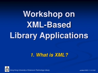 Practical Applications of XML Technologies