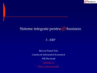 Sisteme integrate pentru     -business 3 - ERP