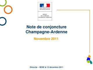 Note de conjoncture C hampagne-Ardenne
