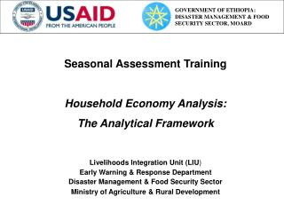 Seasonal Assessment Training Household Economy Analysis: The Analytical Framework
