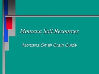 Montana Soil Resources