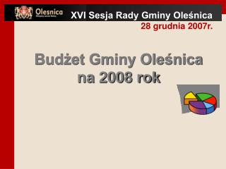 Budżet Gminy Oleśnica  na 2008 rok