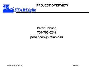 Peter Hansen 734-763-6241 pehansen@umich