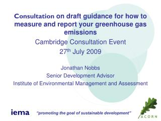 Consultation  on draft guidance for how to measure and report your greenhouse gas emissions